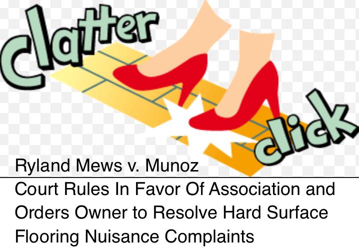Condo Associations Can Regulate Nuisance Hard Surface Flooring (Even